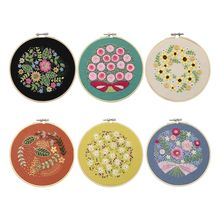 Flowers DIY Embroidery Set Embroidery Shed Sewing Kit  Cross-stitch Hand-stitched Crafts for Beginners Adults beginners guide to crocodile stitch