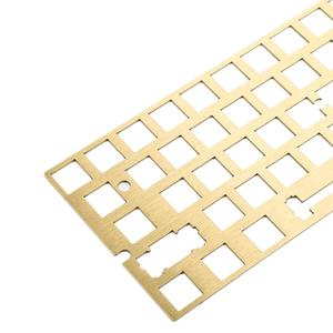 Image 2 - אלומיניום מברשת גימור פלדה פליז ANSI Anodized מיצוב לוח צלחת צלחת רכוב מייצבים עבור GH60 PCB GK61 החלפה חמה PCB
