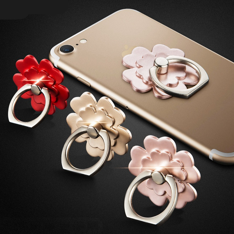 Universal 360 Rotating Cute Cartoon Flower Cellphone Finger Ring Holder Stand Mobile Phone Holder Stand for IPhone Huawei