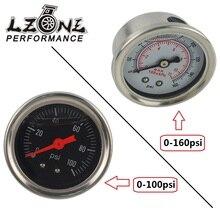 LZONE-датчик давления топлива жидкость 0-100 psi/0-160psi датчик давления масла датчик топлива черный/белый лицо JR-OG33