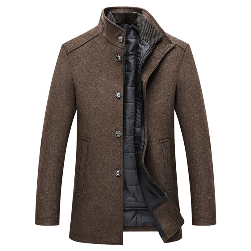 New 2020 Wool Coat Men Thick Overcoats Topcoat Mens Single Breasted Coats And Jackets With Adjustable Vest 4 Colours M-3XL