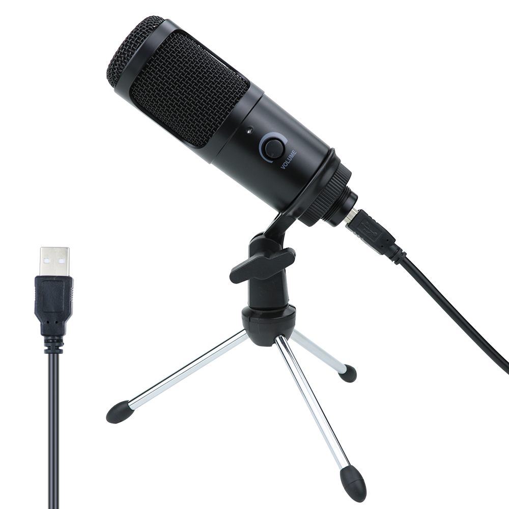 USB Condenser Microphone For Computer Karaoke Studio Microphone For K669 YouTube Gaming Recording Mic With Stand Shock Mount