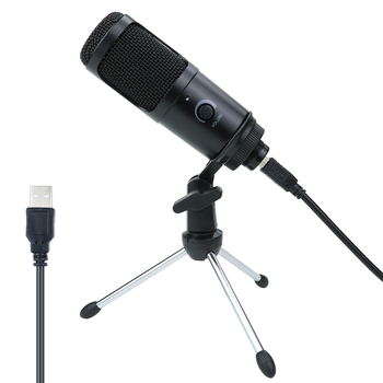 USB Condenser Microphone for Computer Karaoke Studio Microphone for bm 800 YouTube Gaming Recording mic with Stand Shock Mount gevo mk f500tl microphone for phone professional 3 5mm wired usb condenser studio microphone for computer karaoke pc mic stand