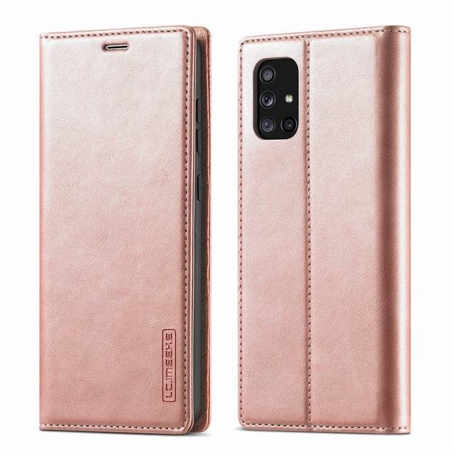 Luxury For Samsung Galaxy A51 Case Flip Wallet Magnetic Cover For Samsung A71 4G M40S M70S Case Leather + Matte TPU Back Cover