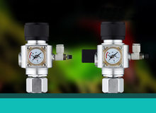 Regulador CO2 Chihiros CO2 sistema 12v W21.8 CGA320 interface Do Aquário válvula bolha contador válvula solenóide magnético