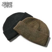 WW2 USAF A-4 WATCH CAP 80% Wool WW2 Replica A4 Winter Warm Knit Thick Cap Vintage Military Outdoor Hat Skateboard Street Dance