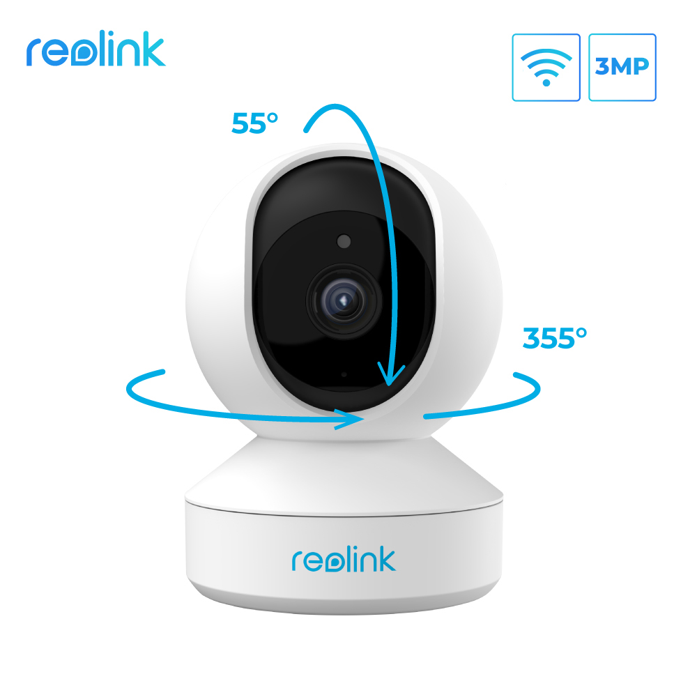 Reolink Indoor IP camera wifi 3MP Super HD Pan&Tilt 2-Way Audio 24/7 Recording Motion Detection Smart Home Cam for Baby Nanny E1