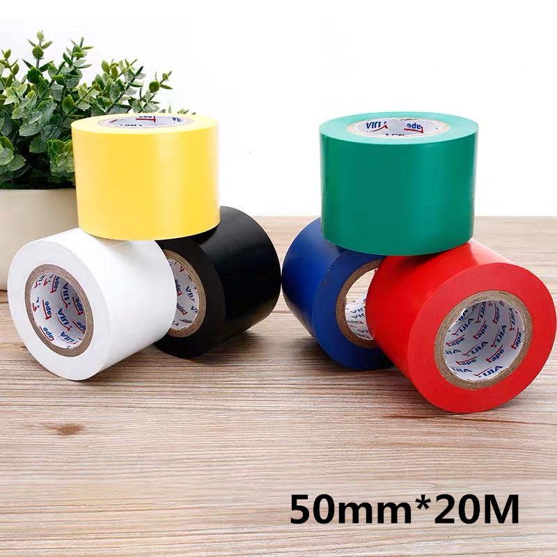Flame Retardant Electrical Insulation Tape High Voltage PVC Electrical Tape Waterproof Self-adhesive Tape 50mm*20M