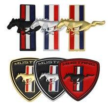 """רכב מדבקות סמל תג מירוץ Trunk מדבקות עבור פורד מוסטנג Shelby GT 350 500 קוברה מונדיאו ח""""כ פוקוס 2 3 f 150 פיאסטה Kuga"""