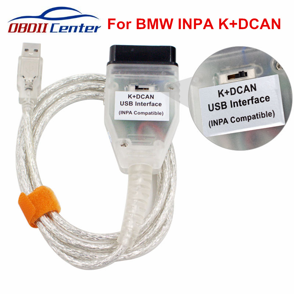 For BMW INPA K DCAN Switch OBDII Diagnostic Cable INPA K+DCAN USB Interface INPA Ediabas K D CAN OBD2 Diagnostic Scanner FT232RL