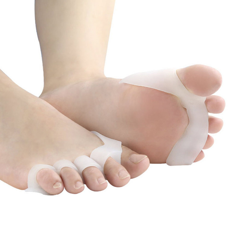 1Pair Silicone Toe Separators Bunion Correctors Hallux Valgus Corrector Foot Finger Splitter Thumb Spacer Feet Spreader