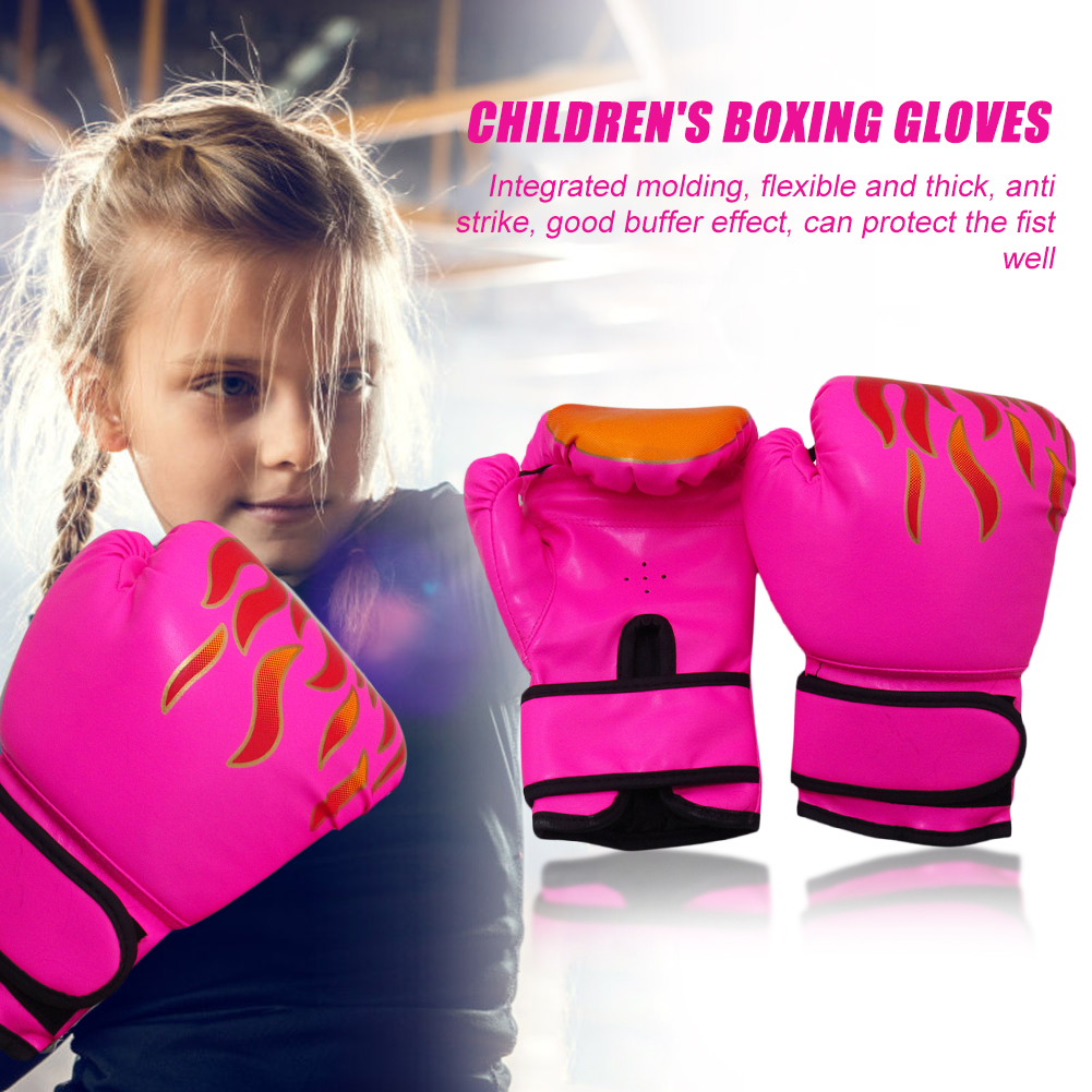 Kickboxing Boxing Gloves Muay Thai Fighting Gloves Breathable Children Kids for Easy Safety Working-out Ornaments