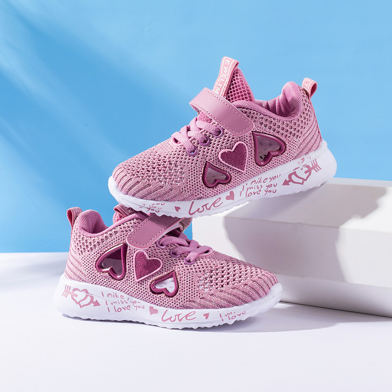 Children Mesh Casual Shoes Girl Sneakers Kids summer Sport Footwear Kids Shoes for Girl Light Shoes Cute Pink Flat Shoes autumn 2