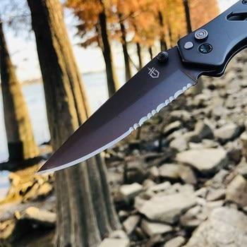 2021 Hot Seller Gerber in Outdoor Folding knife High Hardness Camping Hunting Tactics Pocket kitchen Self-defense garden Tools 4