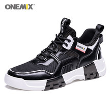 ONEMIX New Arrival New Style Retro Running Shoes For Men Sneakers Gym Sport Shoes Outdoor Trainning Shoes Lace Up Male Shoes(China)