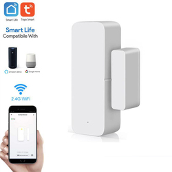 Tuya Smart WiFi датчик для двери дверь открытой/закрытый детекторы магнитный переключатель окна сенсор умный дом безопасности оповещения охранно...