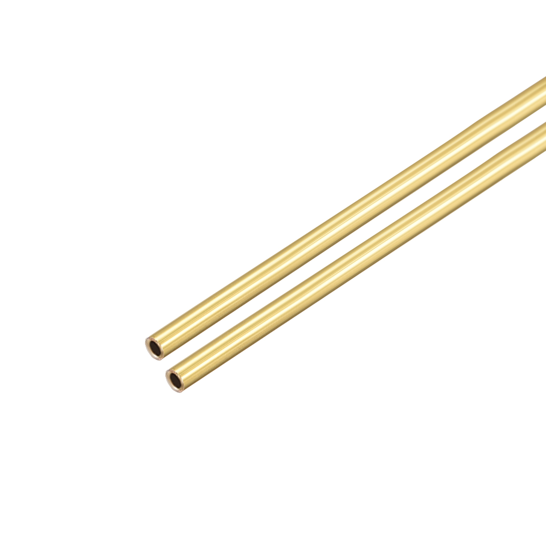 Uxcell Brass Round Tube 300mm Length 1mm OD 0.2mm Wall Thickness Seamless Straight Pipe Tubing 2 Pcs