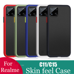Shockproof Phone Case Back Cover For realme c15 Luxury Translucent Soft Case For OPPO realme c11 c 15 11 RMX2185 Case Skin cover