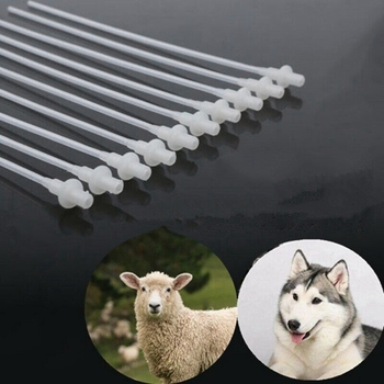 50PCS Artificial Insemination Rods Breeding Catheter Tube Dog Sheep Goat 10 Inch - discount item  33% OFF Pet Products