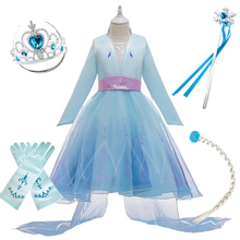 Kids Elsa Dress for Girls Cosplay Snow Queen 2 Elza Costume Children Carnival Birthday Evening Party Fancy Clothes New Disguise elsa dress for girls summer princess costume kids cosplay snow queen 2 elza clothes children birthday carnival party disguise