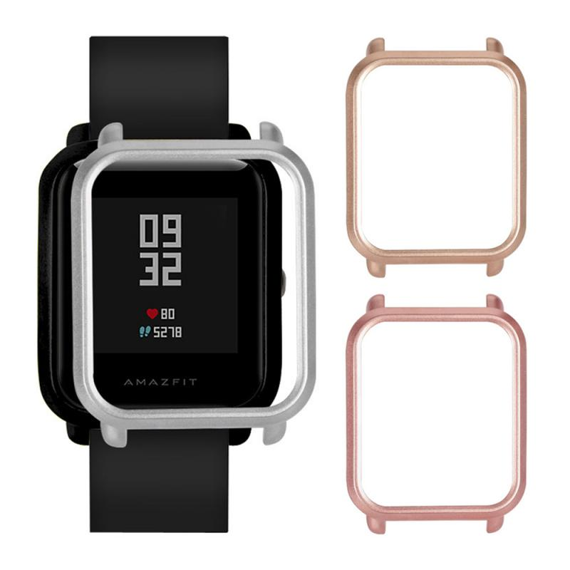 Screen Case Protective Cover Protect Frame Shell Replacement Film For Huami Amazfit Bip Youth Smart Watch Accessories TSLM1