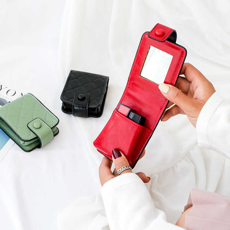 الأزياء قلم روج صغير حقيبة المكياج المحمولة السفر علبة ماكياج تجميل المنظم الجمال أدوات الزينة للماء النساء كيس التخزين