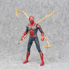 17cm Marvel MK 85 Iron man the Avengers 3 Iron Spider Man Amazing Spiderman Movable Action Figure model toys for Children
