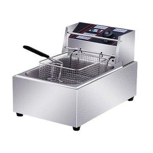 Сковорода электрическая для жарки, газовая печь для жарки картофеля фри, аппарат для жарки, газовая утолщенная электрическая фритюрница дл...