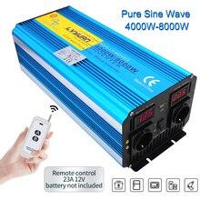 8000W Auto Power Inverter DC 12V / 24V zu AC 220V 230V 2240V LED spannung Display Reine Sinus wechselrichter Universal EU Buchse