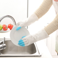 Kitchen Silicone Cleaning Gloves Magic Silicone Dish Washing Gloves For Household Silicone Scrubber Rubber Dishwashing Gloves|Household Gloves|Home & Garden -