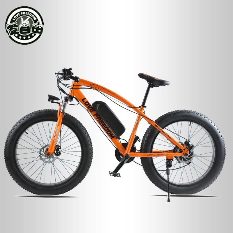 Amour liberté 26 pouces vélo électrique 48V 13ah batterie au Lithium VTT électrique 500W moteur vélo de neige électrique