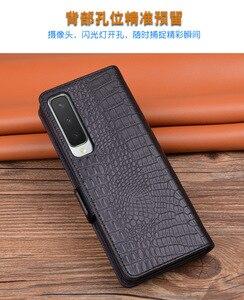 Image 4 - جراب جلد أصلي فاخر لهاتف Samsung Galaxy Fold / W20 ، جراب مضاد للسقوط
