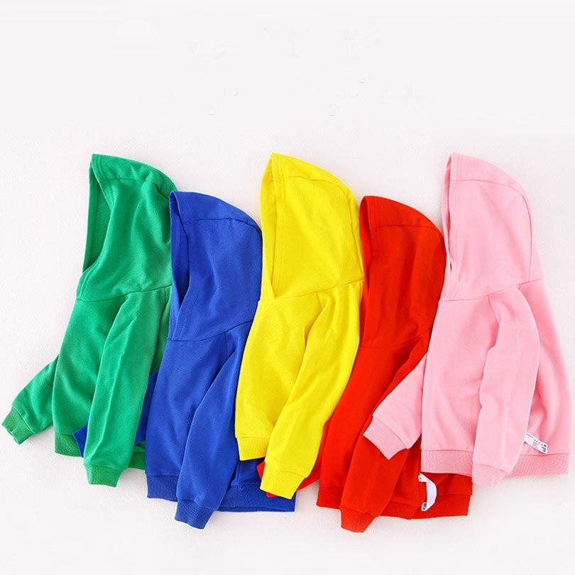 Толстовки ярких цветов; однотонные топы с длинными рукавами для девочек и мальчиков; верхняя одежда; хлопковый свитер для малышей; Детский свитер; спортивная одежда