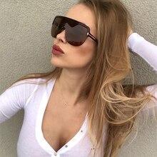 AOZE 2020 Fashion Modern Oversized Shield mask Tom Style Sunglasses