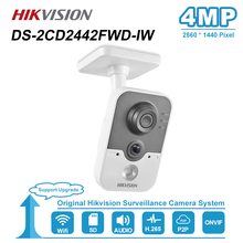 Hikvision 4MP IR Cube HD Audio Microphone Wifi IP Camera Onvif Home Security Surveillance Night Vision Camera DS 2CD2442FWD IW