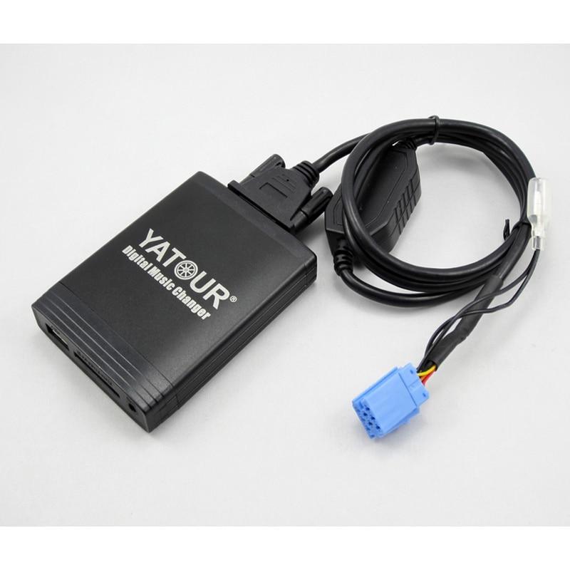 Otomobiller ve Motosikletler'ten Araba MP3 Oynatıcılar'de Yatour Renault Clio için Laguna Megane Scenic kaçış Tuner listesi güncelleme listesi araba dijital CD müzik değiştirici USB MP3 adaptörü
