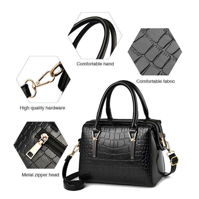 Fashion Women Handbags Crocodile Pattern Ladies Messenger Bags Female Crossbody Bag Shoulder Bolsa High Quality Ladies Hand Bags