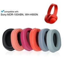เปลี่ยนหูฟังแผ่นรองหูฟังสำหรับSony MDR 100ABN WI H900N H800 หูฟังหูฟังSonyชุดหูฟังRepair Part