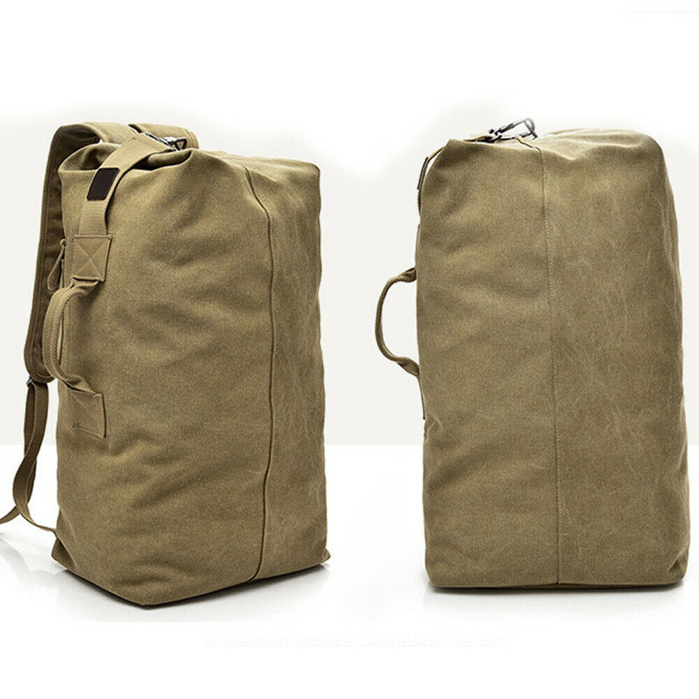 Multi-purpose Canvas Hiking Mountaineering Military Backpack Shoulder Bag Outdoor Travel Large Capacity Men's Backpack