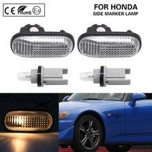 Indicador lateral de luz ámbar para coche, señal de giro para Honda S2000 Accord Civic Prelude CRX Fit, 2 uds.
