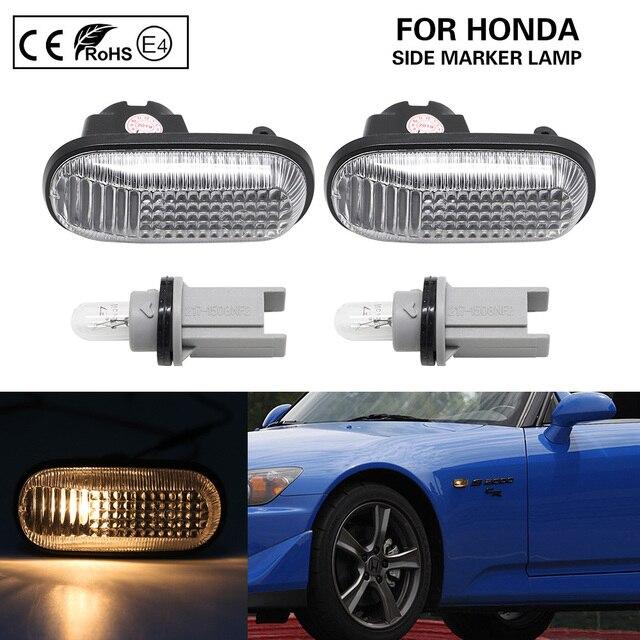 2x ברור OEM צד מרקר אור אמבר הפעל אותות אור להונדה S2000 אקורד פרלוד סיוויק CRX Fit