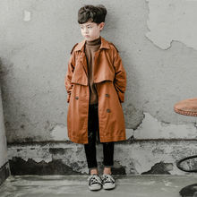Длинная ветровка для мальчиков хлопковая Толстая модная куртка