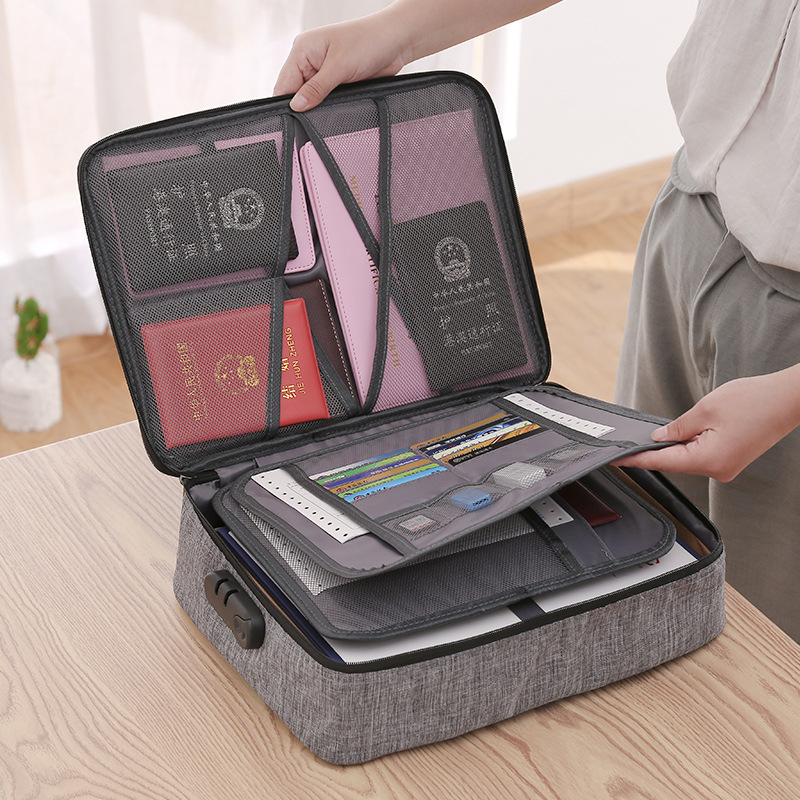 Large Capacity Document Bag Creative Multifunction File Folder Ticket Bags For Home Travel Organizer Storage Supplies