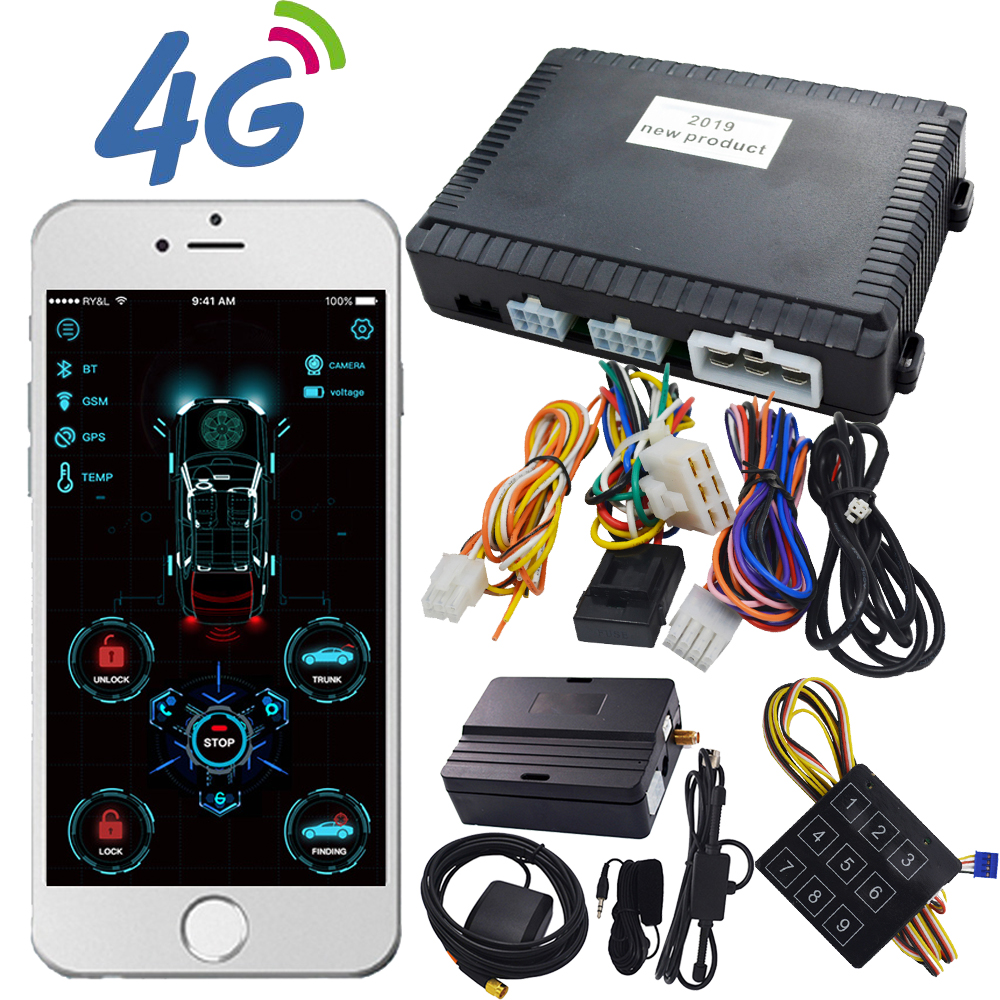 Cardot 4G App Start Stop Compatible With Original Start Button Smart Phone Control Remote Engine Car Alarm System