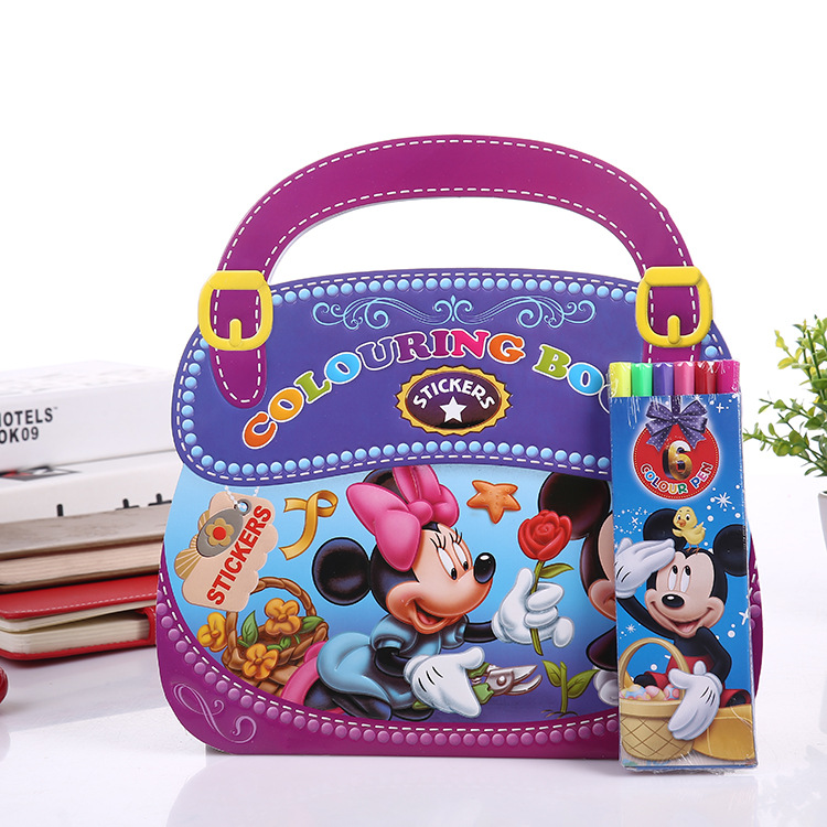 Disney Mickey Mouse Drawing Book Spiderman Sophia Graffiti Coloring Book Frozen Cartoon Drawing Notebook Puzzle Drawing Supplies