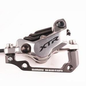 Image 5 - Shimano xtr m9100 2 pistão m9120 freio 4 pistão mountain bike xtr freio a disco hidráulico mtb gelo tecnologia melhor m9000