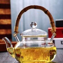 Прозрачные Термостойкие Электрические Чайники, стеклянный чайник, плита, Цветочный чай с фильтром, домашняя кухонная посуда для напитков, чайные инструменты LFB955