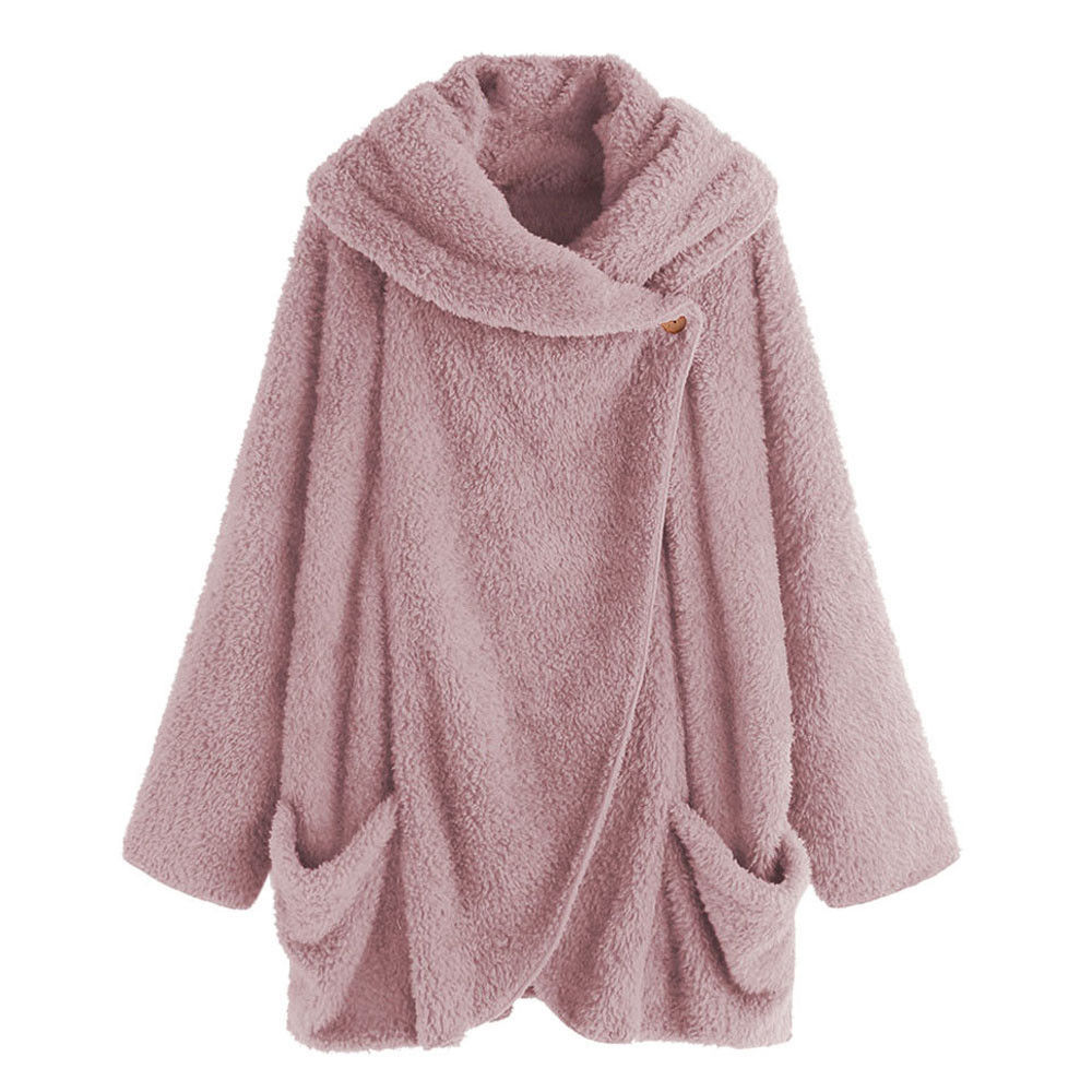Female Teddy Sweaters Plus Size Sherpa Fleece Cardigan Oversized 5XL Women Winter Robe 2019 Sherpa Fluffy Sweaters