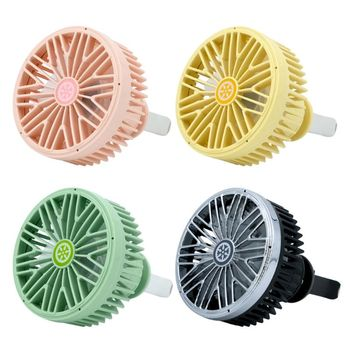 3 Speed Car USB Fan For Air Vent Mounted Auto Cooler Cooling Sedan SUV Vehicles With LED Light