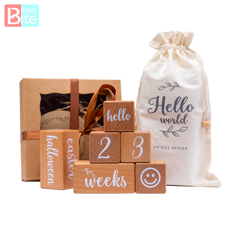 6 шт/1 комплект, Детская Пижама веху бук на блочном квадратном гравировкой новорожденного рождения месяц на день рождения этапов блок фон дл...